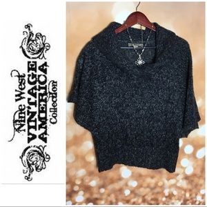Nine West Vintage America cape Sweater Cowl Neck